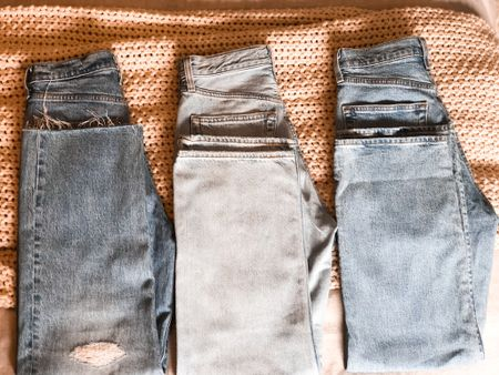 Three Levi's ribcage style jeans! Top rated and under $100. Fit tts   #LTKunder100 #LTKfamily #LTKstyletip