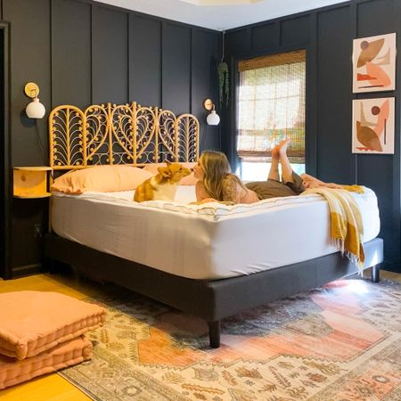 Moody black bedroom http://liketk.it/3fY5Y #liketkit @liketoknow.it #LTKhome @liketoknow.it.home