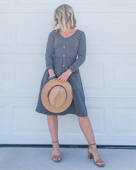 Amazon gray dress.   #LTKunder100 #LTKstyletip #LTKunder50