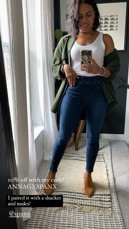 Spanx skinny jeans! Use my code for 10% off ANNAGXSPANX