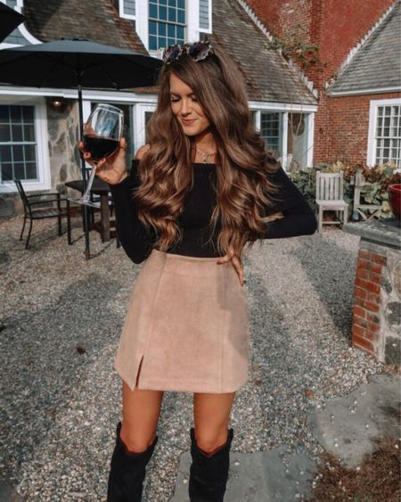 The Nancy Foldover Fitted Off The Shoulder Sweater in Black  XS, TTS, cmcoving, Caitlin Covington, Pink Lily Collection, fall fashion, use code CAITLIN20 for 20% off!   #LTKsalealert #LTKunder50 #LTKSeasonal