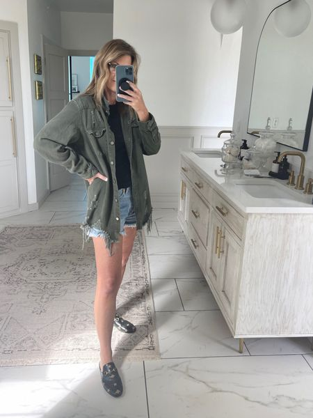 Use code: spoiledhome15 for this cute jacket. I'm wearing a small. Also linked similar ones   #LTKstyletip #LTKshoecrush #LTKunder50
