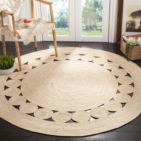 Jute rug Target rug Overstock rug  Natural rug  Round jute rug  Safavieh rug    #LTKhome #LTKfamily #LTKunder100