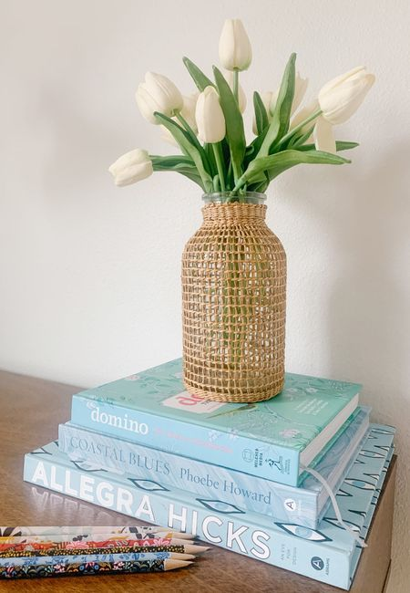 I have ordered my 'favorite thing' for this year's annual Favorite Things Party.  I'll tell you guys what it is, but don't spill the beans!  It's supposed to be a surprise at the party!  We have to keep our gift under $30, so I'm buying these gorgeous glass rattan vases and also gifting the faux tulips that look so pretty inside!   We bring three gifts, so I'll be able to split up the tulips between the three vases.    #LTKsalealert #LTKSeasonal #LTKhome