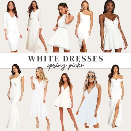 White dress, white dresses for spring/summer - perfect for bridal events!   #LTKunder100 #LTKwedding #LTKsalealert