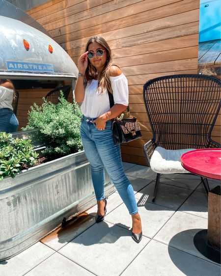 Brunch outfit! These jeans come in short sizes (thank goodness!) and on major sale right now! They are so comfortable, I'm getting them in other colors! http://liketk.it/2Ta02 #LTKitbag  #liketkit @liketoknow.it  jeans denim casual weekend wear #LTKDay #LTKsalealert #LTKunder50