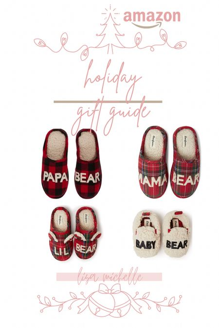 Sales on the cutest buffalo check a family set of slippers! #MamaBear #PapaBear #BabyBear #BuffaloCheck #ChristmasSlippers #BlackFriday2020 #LTKBlackFriday