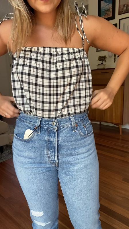 """3 Petite Friendly Jeans from the #NSale! 👖🛍  Since there aren't any jeans specifically made for petites in the Nordstrom Sale, I thought I'd search through the inseams for a few petite friendly options - and here they are! (I am 5'2"""" for reference!)  1) High waisted straight leg jeans ($64.90): These have no stretch, so definitely size up if you're in between sizes. 2) Classic Skinny Jeans ($149.90): These are super comfortable and run true to size. Love the wash too! 3) Low Rise 😱 Jeans ($149.90): Don't freak out, the 90s aren't back! The rise on these are just 1/2 inch shorter than the 2nd pair. They're also a really comfy relaxed fit!  Get the links to everything in this video in the LTK app!  #LSLstyle #LTKsale  #LTKstyletip"""