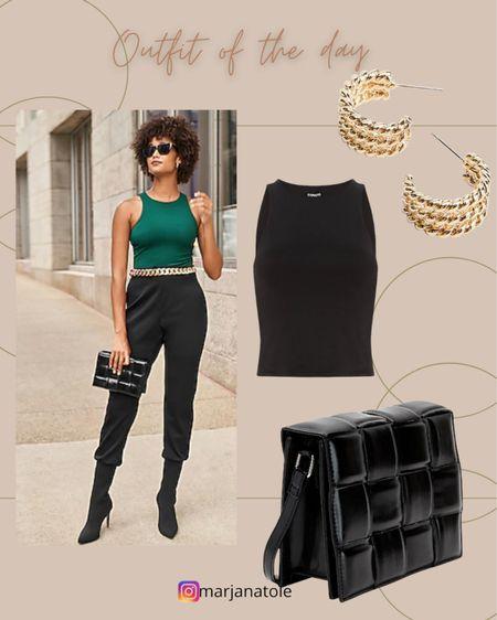 Outfit of the day! Workwear  Pants Tank top  Boots   #LTKsalealert #LTKstyletip #LTKSale