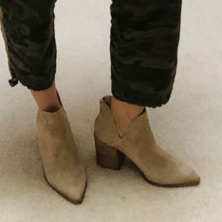 Booties in suede. So comfortable. True to size.   http://liketk.it/3kOSb #liketkit @liketoknow.it #nsale