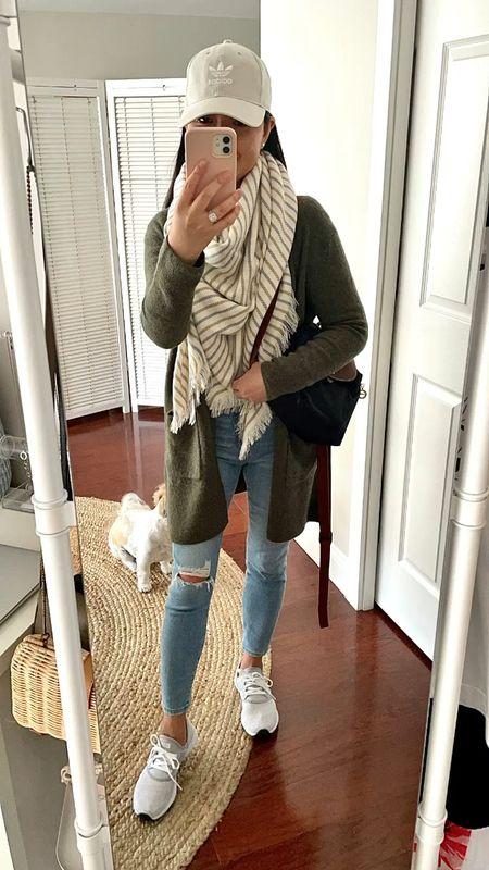 Nsale fall outfit idea   Review of the cardigan (XXS) 👉🏻 https://www.whatjesswore.com/2021/07/longchamp-mini-le-pliage-canvas-backpack-review-a-few-nsale-reviews.html  #LTKstyletip #LTKshoecrush #LTKsalealert