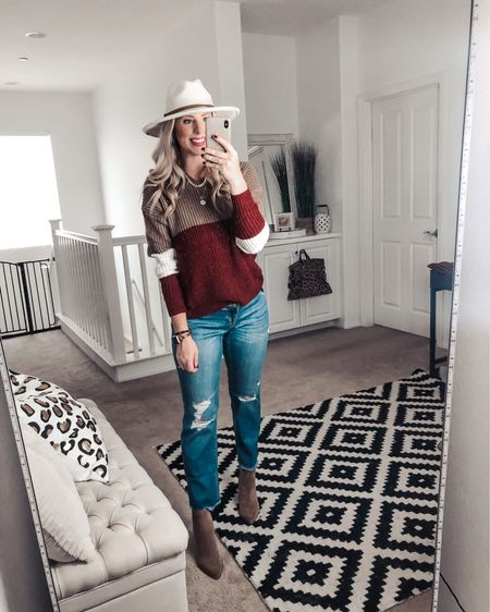 This sweater has the cutest fall colors plus a twist knot back! Wearing a M.  Great with jeans and booties for a cute fall outfit   http://liketk.it/2XsaZ #liketkit @liketoknow.it #LTKsalealert #LTKunder50 #LTKstyletip
