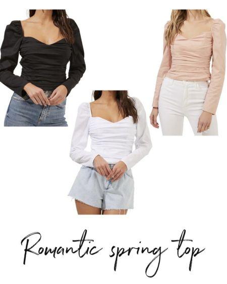 Ruched top, summer top #LTKstyletip #LTKunder100    http://liketk.it/3hT54 @liketoknow.it #liketkit