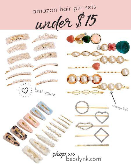 My favorite amazon hair pin sets under $15 >> http://liketk.it/2G2eX #liketkit @liketoknow.it #LTKbeauty #LTKunder50 #LTKstyletip