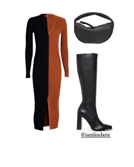 Knitwear is perfect for fall  and color blocking  is all the rave. This look can be dressed up or down.   #LTKstyletip #LTKshoecrush