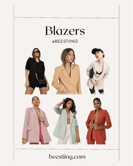 Classic blazers that can be dressed up for date night or down for a casual day. Perfect for fall.   Express | 40% OFF Nasty Gal | 60% OFF EVERYTHING Missguided | 50% OFF + Extra 20% OFF with code LABOR20  #LTKunder100 #LTKSeasonal #LTKsalealert