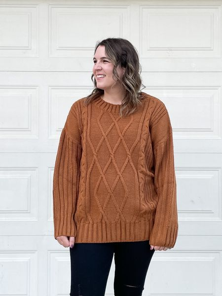 The coziest fall sweater that is a great length for leggings too!  #LTKworkwear #LTKunder50