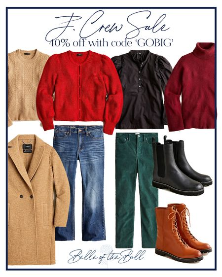 My mom and I stopped into J. Crew yesterday and they are having an amazing sale! Linking my favorites that are 40% off below. ❤️ #sale #fallsale #fallsweaters #fallboots #denim #corduroy #layers