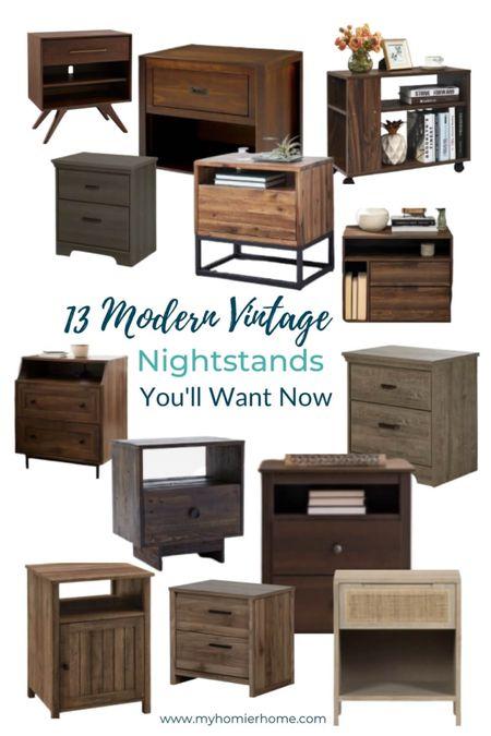Modern Vintage nightstand round up for your bedroom makeover   #LTKhome