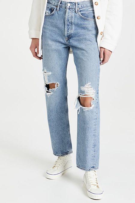 Agolde Mid Rise Loose Fit Jeans #jeans #agolde #jeansstyle #fallfashion  #LTKSeasonal #LTKstyletip #LTKeurope
