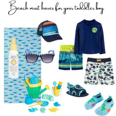 Beach must haves for your toddler boy #ltksummer #LTKbaby #LTKfamily #LTKswim http://liketk.it/3hU7C #liketkit @liketoknow.it