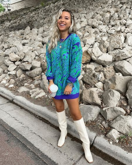 Nordstrom wildfang sweater dress fall outfit ideas boots booties hair clips    #LTKSeasonal #LTKunder100 #LTKstyletip