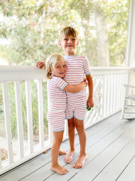 Our favorite splurge pajamas. I bought these last year (I have the matching set) and I'm so glad they still fit!  #LTKkids