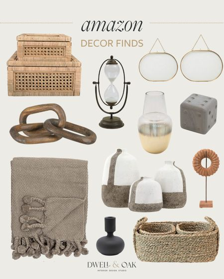 Amazon home decor finds! Throws, vases, decorative items, woven baskets and more #amazonfinds #amazonhome   #LTKhome #LTKunder100