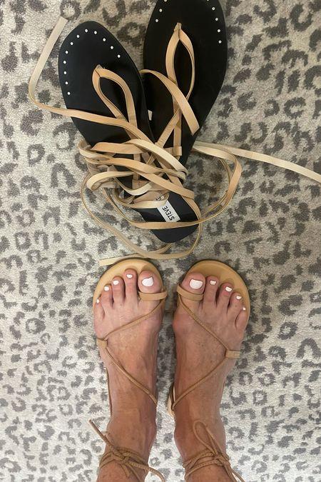 Strapped sandals for summer.    #LTKstyletip #LTKunder100 #LTKtravel