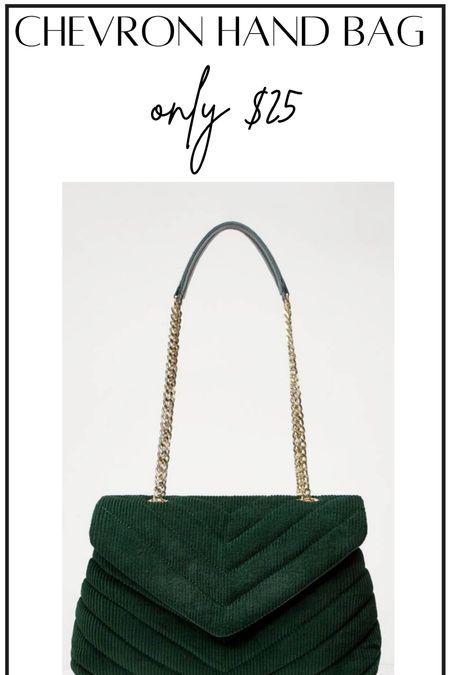 Chevron handbag #thedailydupes  #LTKunder50 #LTKitbag #LTKSeasonal