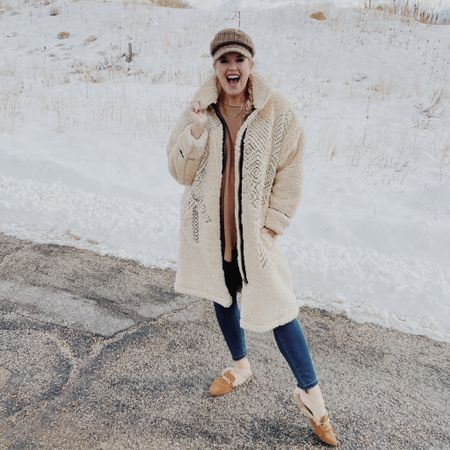 How I feel about my NEW Cozy Teddy coat🎉❄️ . I talked about this fab teddy coat in my stories the other day... and let me tell you... you guys were just as excited as I was❤️ My dm was  completely full on sweet comments and questions:)  ❄️ I I would size down (I am in a small) normally would do Med.... they do have xsm-lg, it's fully in stock and I've linked it here, in my stories and on the BLOG..... I am telling you, you won't be sad about this purchase at all and it's a coat you'll love for years:)  Perfect for that ski trip you have coming up or that mountain cabin escape ✔️ . . Tell me do you have a Winter trip coming up? . .  Shop my daily looks by following me on the LIKEtoKNOW.it shopping app  @liketoknow.it #liketkit Download the LIKEtoKNOW.it shopping app to shop this pic via screenshot #LTKstyletip http://liketk.it/35mAO #winterlook #skitrip #skioutfit #teddycoat