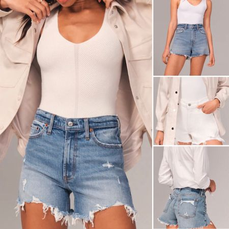 Abercrombie is the only place to get distressed denim shorts - high rise, mom jeans, white denim   You can instantly shop all of my looks by following me on the LIKEtoKNOW.it shopping app / #liketkit @liketoknow.it http://liketk.it/3hvYK   #abercrombie #abercrombiespring #denimshorts #abercrombiesummer #abercrombie2021 #abercrombiedenim #abercrombieshorts #abercrombiejeanshorts #distresseddenim #daisydukes #denimshorts #distressedjeanshorts #causalsummer #casualspring #momjeans #highwaistedshorts #highwaisteddenim #vacationstyle  #LTKunder50 #LTKtravel #LTKDay