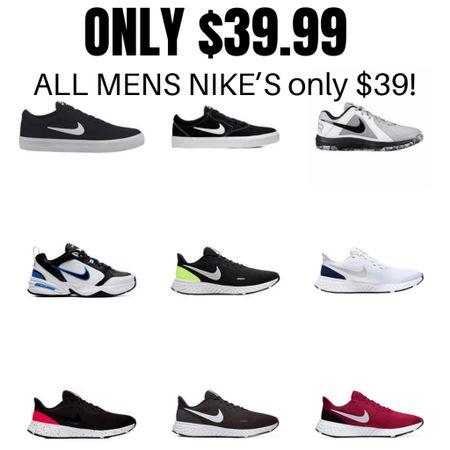 All Men's Nike's only $39! Hurry, these will sell out fast!  http://liketk.it/3h0Sv #liketkit @liketoknow.it #nike #men #shoes #LTKsalealert #LTKunder50 #LTKmens