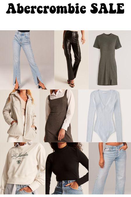 Abercrombie sale finds! Jeans, dresses, bodysuits, coats, and sweaters!   #LTKsalealert #LTKSeasonal #LTKSale