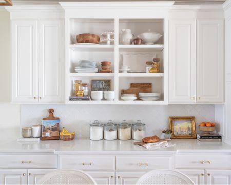 Kitchen decor, kitchen storage, kitchen organization, bamboo bowls, hocking glass jars, cookbooks, white table ware, white serving pieces. #liketkit @liketoknow.it @liketoknow.it.home http://liketk.it/39WMg