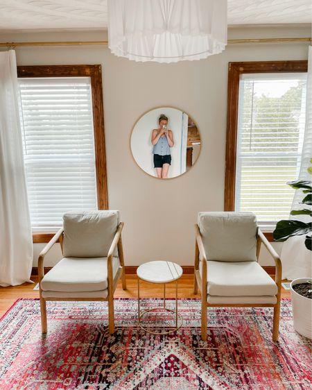 http://liketk.it/3itXc #liketkit @liketoknow.it modern living room inspiration #lightpendant #fiddleleaf #targethome #marbletable #whitecurtains