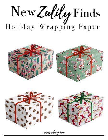 Zulily finds, holiday wrapping paper   #LTKSeasonal #LTKHoliday #LTKsalealert