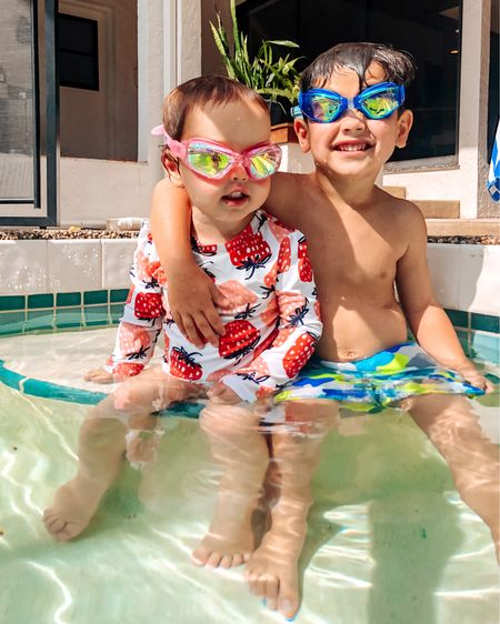 Swimming Buddies.   Best goggles for kids http://liketk.it/2TG41 #liketkit @liketoknow.it #LTKkids @liketoknow.it.family