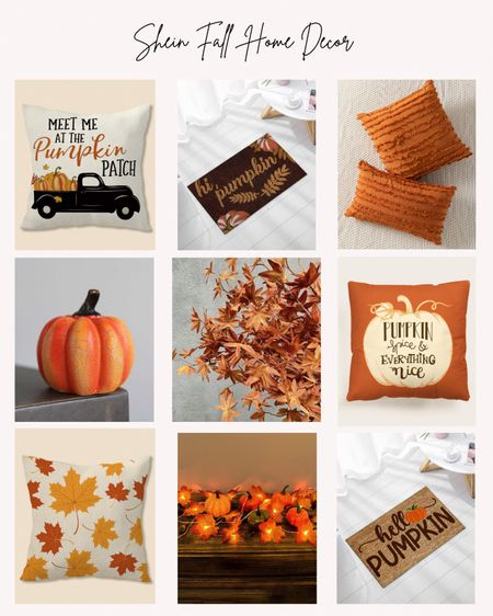 Shein, home decor, fall, cozy, pumpkins, leaves, autumn, rugs, pillows  #LTKhome #LTKSeasonal #LTKunder50