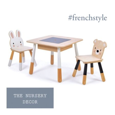 The perfect kid's table for your nursery bedroom.  French nursery decor for babies and small children.   #frenchstyle #LTKbaby #LTKbump #LTKkids @liketoknow.it.family @liketoknow.it.home http://liketk.it/364Gl #liketkit @liketoknow.it