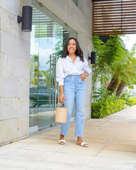 This white shirt has been one of my favorites lately, I've worn it with jeans, shorts, and skirts. It's linked here: http://liketk.it/3jfVK  along with rest of the outfit. #liketkit @liketoknow.it #LTKsalealert #LTKshoecrush #LTKstyletip