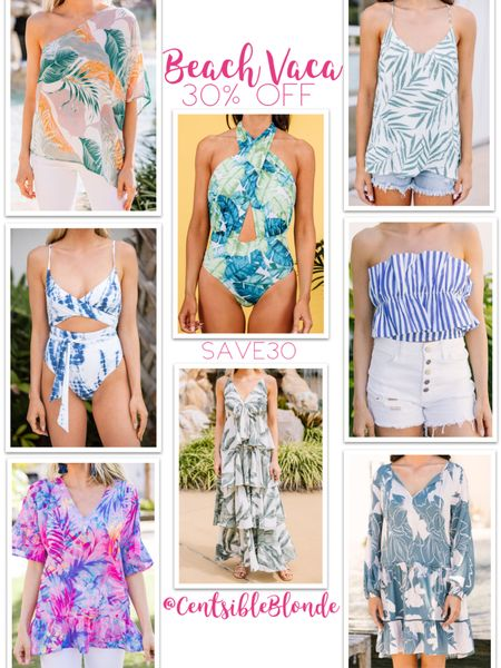 Beach vaca looks from shop the mint  Summer travel looks 30% off with SAVE30  http://liketk.it/3gyQH @liketoknow.it #liketkit #LTKsalealert #LTKunder100 #LTKtravel