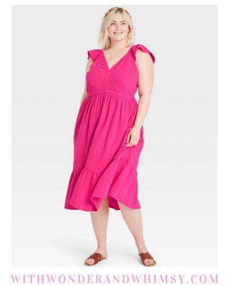$30 Target dress in straight and plus sizes 💕  http://liketk.it/3g6Bc #liketkit @liketoknow.it #LTKcurves #LTKunder100 #LTKunder50