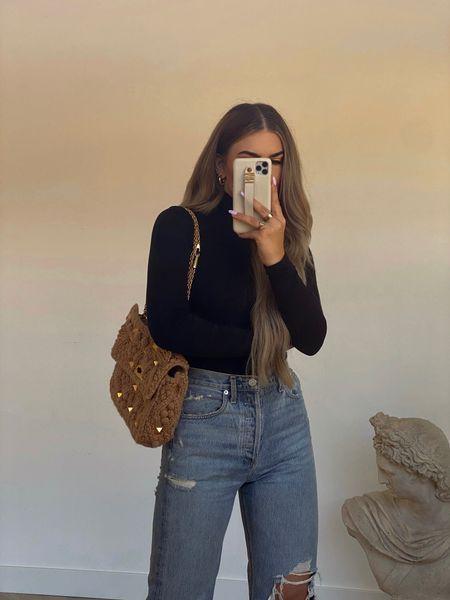 OOTD 💘  Halogen Turtleneck - size small Agolde Jeans - size 24    #LTKunder100 #LTKunder50 #LTKstyletip