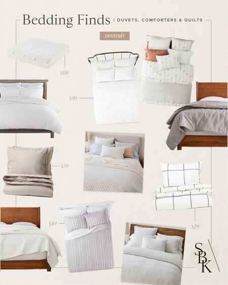 H O M E \ neutral bedding favorites🤍  #bed #bedding #bedset #homedecor #bedroom #bedroomdecor #walmart #target #walmarthome  #LTKunder100 #LTKhome