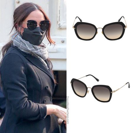 Meghan wearing Tom Ford Kenyan sunglasses (ID What Meghan Wore) #glasses #outfit #accessories     #LTKstyletip