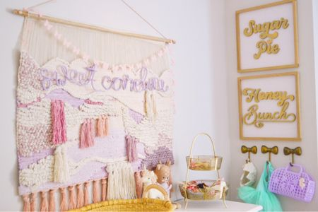 Baby girl nursery, nursery decor, wall decor  #LTKbaby #LTKfamily #LTKkids
