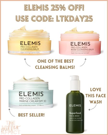 25% off of Elemis!!! Great time to stock up on their top rated products! http://liketk.it/3hofs @liketoknow.it #liketkit #LTKDay #LTKsalealert #LTKunder100