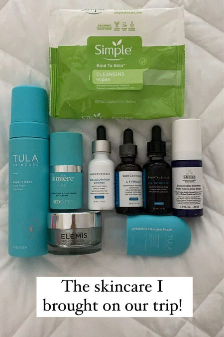 The skincare edit - what I packed for our trip   #LTKbeauty