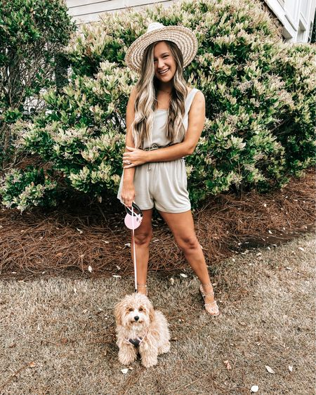 Just twinning with my bestie ,Olive 🐾 & loving this olive green romper... you'll see me in this all season long 😜  Screenshot this pic to get shoppable product details with the LIKEtoKNOW.it shopping app   #liketkit @liketoknow.it http://liketk.it/3dL9D #LTKunder50 #LTKtravel #LTKstyletip